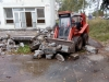 Nakladanie odpadu z okapových chodníkov