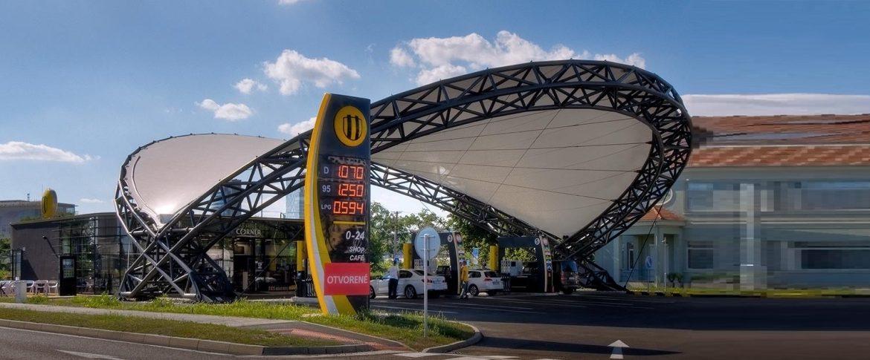 Výstavba ČS Slovnaft s unikátnym dizajnom