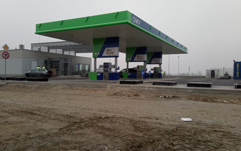 R7 ROAD OMV PETROL STATION CONSTRUCTION, REST PLACE BLATNÁ NA OSTROVE SOUTH/ NORTH